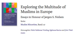 Buchankündigung multitude of Muslims in Europe